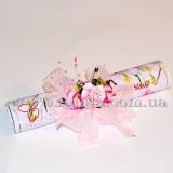 """Поздравление-свиток """"Розовые Цветы"""""""